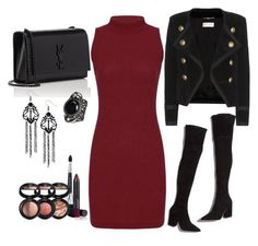 """""""Untitled #168"""" by ivana-j ❤ liked on Polyvore featuring Loeffler Randall, Yves Saint Laurent and Laura Geller"""