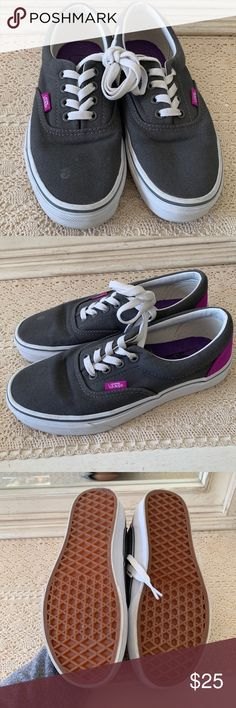 488cb3f742f Grey And Purple Vans They have never been worn. They are in good condition.