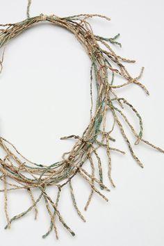 Fiona Wright, United Kingdom, Necklace, newspaper