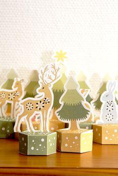 FREE Printable Woodland Advent Calendar