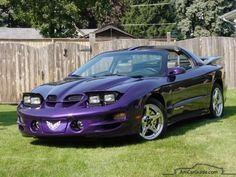 Bright‑purple‑metallic‑pontiac‑firebird‑trans‑am Pontiac Firebird: 1992-2002, 4th generation