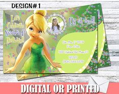 Amazon.com: Tinkerbell Fairy Personalized Birthday Invitations More Designs Inside!: Handmade Tinkerbell Invitations, Personalized Birthday Invitations, Birthday Party Invitations, Custom Invitations, Little Girl Birthday, Sister Birthday, Baby Sister, Ticket Invitation, Invitation Ideas