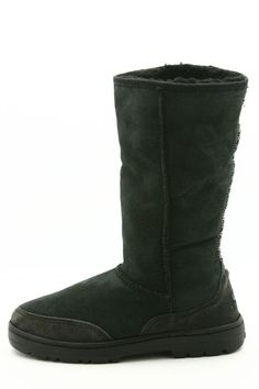 020d488b12 Ugg Australia Womens Boots Size 9 Black Suede Ultra Tall Style   5245  Sheepskin  UGGAustralia