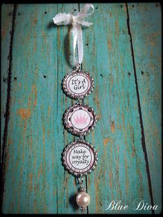"Pink & Brown ""Make Way For Royalty"" Baby Girl Bottle Cap Ornament...Wall Decoration... on Etsy, $8.50"