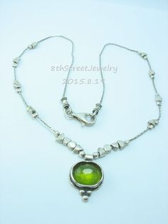 141 best silpada from 8thstsinaijewelry on ebay images on pinterest retired n1461 silpada sterling silver green glass pendant necklace silpada necklace aloadofball Images