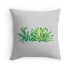 green succulent arrangement watercolor  by ColorandColor 25% off hoodies and sweatshirts. 20% off everything else. Use HAVEFUN