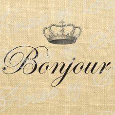 Bonjour Crown French Vintage Download
