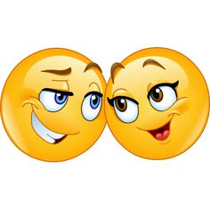 These sweetheart smileys will bring a sweet note to Facebook with their cheerful smiles and look of love for each other.