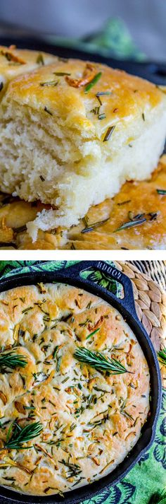 Garlic and Rosemary Skillet Bread from The Food Charlatan. Need an easy but fabulous bread for Thanksgiving? Or heck, how about dinner tonight! This bread has tons of flavor from the fresh garlic and rosemary. Olive oil in a cast iron skillet gives it this unreal crust. It's like a pan pizza from Pizza Hut. You will love it! Perfect side dish for Thanksgiving, Christmas, or Easter!