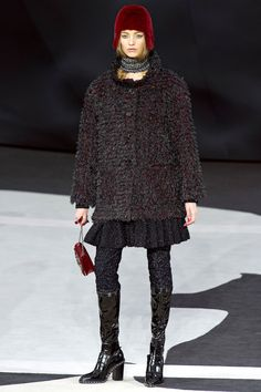 Chanel Fall/Winter 2013 Ready-to-Wear Collection via Designer Karl Lagerfeld / Modeled by Iris van Berne