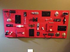 Busy board inspiration - One of these would be great for Liam & Shelby.