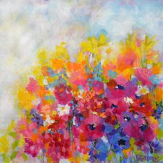 Garden at Millefiori by Pamela Gatens Acrylic ~ 24 x 24
