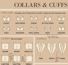 Collars and cuffs. #Infographic