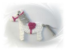 Häkelapplikationen by SavoeDesign Crochet Animal Patterns, Stuffed Animal Patterns, Crochet Animals, Crochet For Kids, Knit Crochet, Little Princess, Crochet Flowers, Lana, Crochet Projects