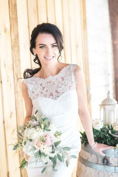 I have been waiting so long to share this two budgets, one rustic glam look shoot from L' Estelle Photography for so long! I love the concept of this. I Have Been Waiting, Get The Look, One Shoulder Wedding Dress, Brides, Wedding Day, Budget, Concept, Dreams, Rustic
