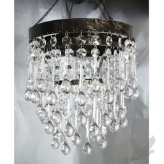 Vintage Tier Albert Crystal Chandelier Interiors Pinterest - Teardrop chandelier crystals