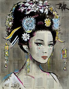 View LOUI JOVER's Artwork on Saatchi Art. Find art for sale at great prices from artists including Paintings, Photography, Sculpture, and Prints by Top Emerging Artists like LOUI JOVER. Art Geisha, Geisha Kunst, Collage Art, Collages, Photos Encadrées, City Tattoo, Photo D Art, Woman Drawing, Beautiful Drawings