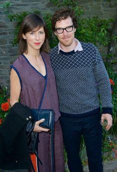 Sophie Hunter and Benedict Cumberbatch #LettersLive #HayFestival #BenedictCumberbatch