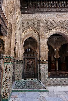 Fes El Bali Morocco-Medersa Bou Inania.