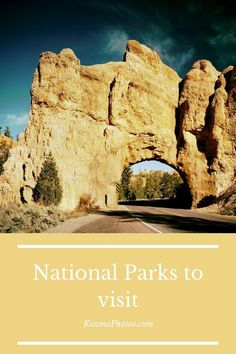 National Parks you have to visit. From the east coast to the west coast and everything in between. Nothing beats a weekend exploring the great national parks of the United States. Road trip, Zion, Yellowstone, Arches, Yosemite, Great Smoky Mountains, Glacier, Mammoth Cave, Grand Canyon, Travel, US travel, United States places to visit, Bucket list, places to see before you die, Family vacation,