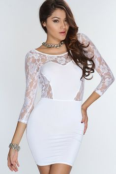 Lace Open Back Sexy Party Dress