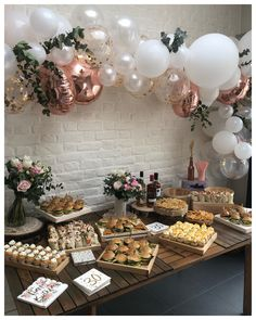 Birthday Menu, Birthday Snacks, 18th Birthday Party, Birthday Balloon Decorations, Garden Party Decorations, 18th Party Ideas, Party Food Platters, Adult Party Themes, First Birthdays