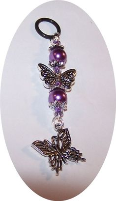 KANGER EVOD SHISHA PEN VAPE VAPOR CHARM FANCY CENTER PURPLE BUTTERFLY