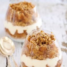 Cinnamon Apple Quinoa Parfait @keyingredient #dessert