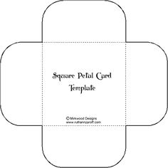Cards Template | Square Petal Card Template – Paperandmore.com