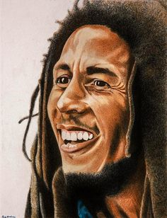 *Bob Marley* More fantastic paintings, pictures and videos of *Bob Marley* on… Reggae Bob Marley, Bob Marley Art, Bob Marley Pictures, What About Bob, Reggae Artists, Robert Nesta, Nesta Marley, The Wailers, Great King