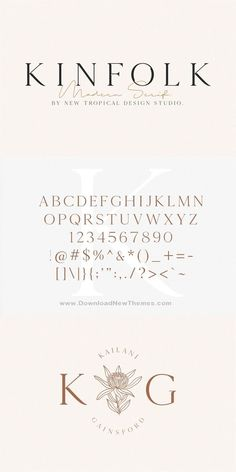 Kinfolk is a classic style #serif #typeface that has been modernized with its unique curves and cut-ins making it one of the most memorable caps fonts on the market. This versatile font can be used for wordmark logos, mastheads, pull quotes & monograms showing both feminine and masculine qualities. #font #typography #calligraphy #graphics #design #seriffont