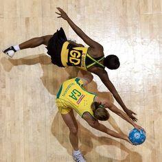 Sharelle McMahon v Georgia Gordon, Australia v Jamaica #netball