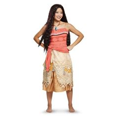 Disney Cosplay Womens Moana Costume Party City - The Moana Costume for women includes a shirt, a skirt, and a necklace. Have a spirited and adventurous night as Moana! Disney Costumes For Women, Disney Characters Costumes, Disney Halloween Costumes, Halloween Costume Shop, Adult Costumes, Adult Halloween, Moana Costumes, Cosplay Costumes, Halloween Makeup