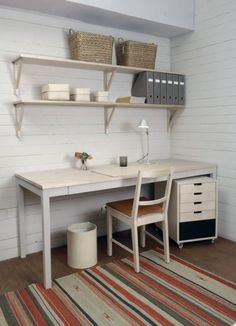 Very Scandinavian traditional take on an office by Norrgavel.