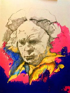 mr marian hergouth, Beethoven ps Mixed Media Painting, Ps, Portrait, Artist, Canvas, Drawing S, Art, Men Portrait, Artists
