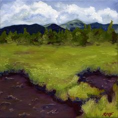 """""""Jackson Bog,"""" oil on canvas original painting, 9x9"""". Take 10% off your purchase with code RMF10 during my Studio Sale!"""