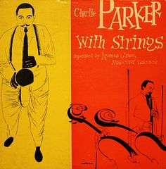 Album cover by David Stone Martin (1913-1992), 1950, Charlie Parker with Strings.