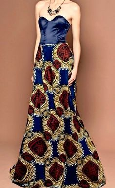 Multicolor African Formal Dress by Jezafricanna on Etsy