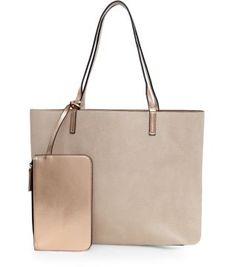 Gold Purse and Reversible Shopper Bag