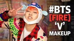 BTS 'FIRE' V inspired makeup tutorial | SSIN
