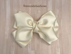 Ivory Boutique hairbow, Ivory Hair Bow Clip, Large Ivory hair bows, Girls Big Ivory bows, Big Ivory - All For Hairstyles Flower Hair Bows, Pink Hair Bows, Ribbon Hair, Bow Clip, Bow Hair Clips, Handmade Hair Accessories, Wedding Hair Accessories, Champagne Hair, School Hair Bows