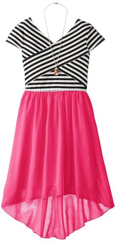 Amazon.com: Speechless Big Girls' High/Low Dress with Crisscross Bodice: Clothing