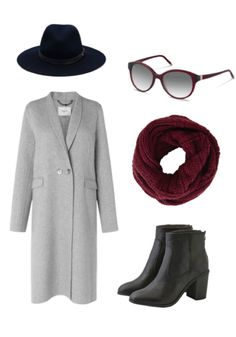 Gear up for the cold weather this winter with a long coat, a circle scarf, a fedora, and ankle boots. Complete the look with a pair of stylish Rodenstock sunglasses.
