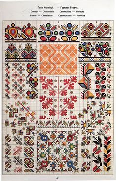 Ukrainian and Romanian embroidery of Bukovyna-Bucovina Blackwork Embroidery, Folk Embroidery, Cross Stitch Embroidery, Embroidery Patterns, Print Patterns, Beaded Cross Stitch, Cross Stitch Borders, Cross Stitching, Cross Stitch Patterns