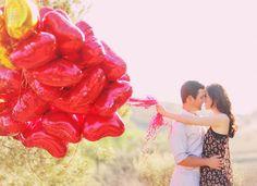 #akiss #umbeijo #diadosnamorados  red heart balloon engagement