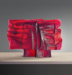 Stanislav Libenský (Czech, 1921-2002) and Jaroslava Brychtová (Czech, 1924-), Cast, Cut and Polished Glass Sculpture.