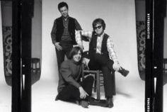 Young Elton John with Bernie Taupin and Caleb Quaye