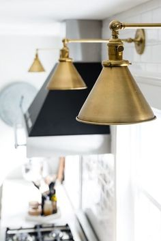 brass sconces for kitchen lighting #lighting #kitchenlighting #brasslighting