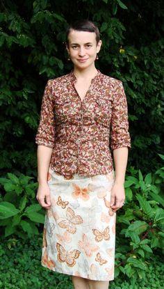 Tibetan Chupa Style Wrap Skirt/ Hand Stitched/ by RebirthRecycling, $72.00