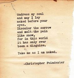 ~ Christopher Poindexter